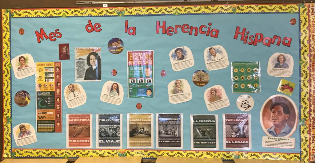 Mes de la Herencia Hispana: Hispanic Heritage Month at SJHS