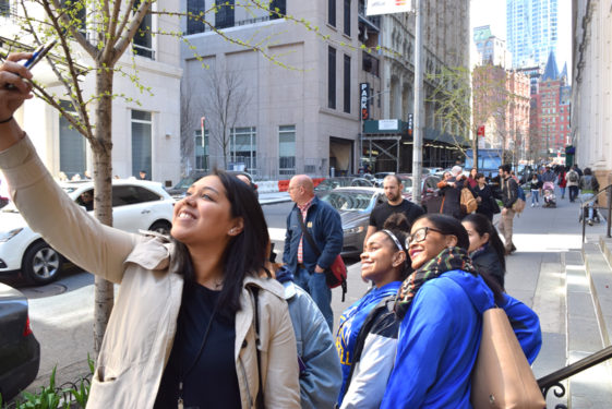SJHS in Communion and Liberation's Good Friday Procession over Brooklyn Bridge