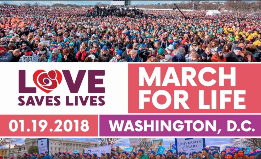 Civil Rights for All: SJHS Students Attend the March for Life!