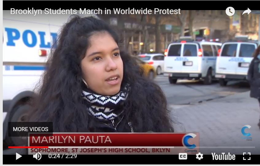 Brooklyn Students March in Worldwide Protest