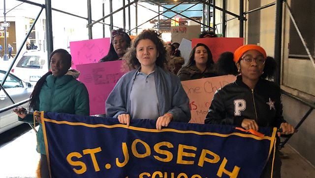 NYC students protesting gun violence walk out of class